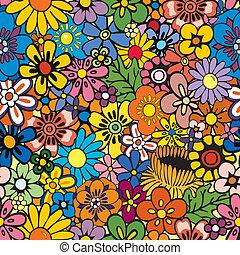 꽃의, 반복, 배경
