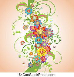 꽃의, 봄, 경계