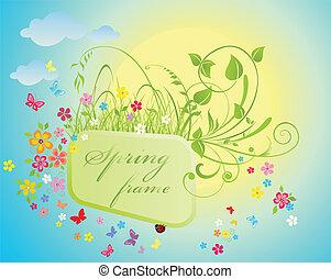 꽃의, 봄, 구조