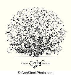 꽃의, 봄, 성분