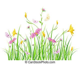 꽃의, 분홍색의 꽃, 배경
