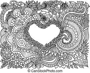 꽃의, 심장