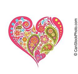 꽃의, 심혼 모양, 바잇레