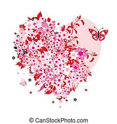 꽃의, 심혼 모양