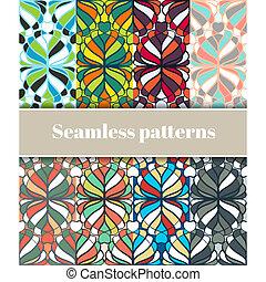 꽃의 패턴, 세트, seamless