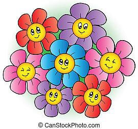 꽃, 그룹, 만화
