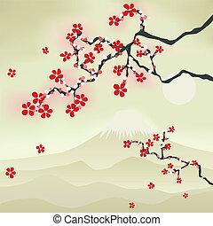 꽃, 버찌, 일본어