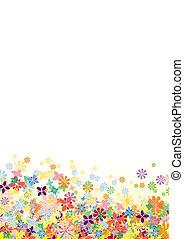 꽃, 벡터, 밑바닥