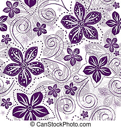꽃 본, seamless, white-violet
