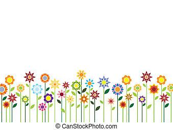 꽃, 봄, 벡터