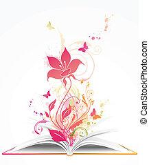 꽃, 열린 책, 핑크