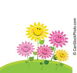 꽃, 행복하다, 봄, 정원
