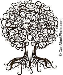 꾸밈이다, 디자인, 나무, 너의, 뿌리