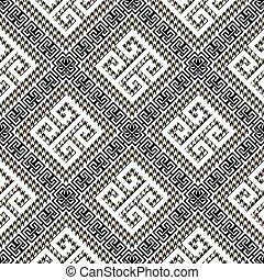 꾸밈이다, 현대, 디자인, 화려한, pattern., seamless, 직물, 사냥개, 배경., 검정, ornaments., 백색, 반복, 미궁, houndstooth, 강의 사행, 열쇠, 나뭇결이다, maze., 기하학이다, 이, 그리스어, 벡터