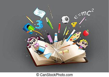 나가, 물건, 교육, 책, 도래