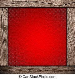 나무의 프레임, 종이, 빨강