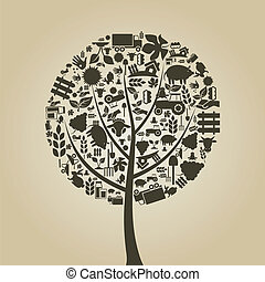 나무, 농업