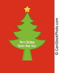 나무, 디자인, 크리스마스 카드