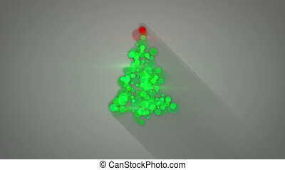 나무, 모양, loopable, 백열하는 것, 생기, 크리스마스