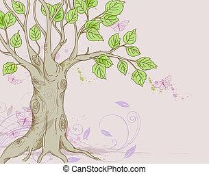 나무, 배경