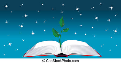 나무, 책, 열려라, 내밀게 하다