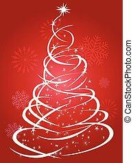 나무, 크리스마스, 배경, 빨강