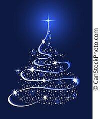 나무, 크리스마스, 은 주연시킨다