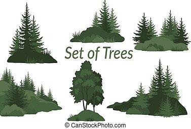 나무, 풍경, 실루엣