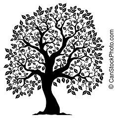 나무 3, 실루엣, 은 형성했다