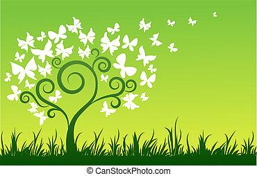 나비, 나무