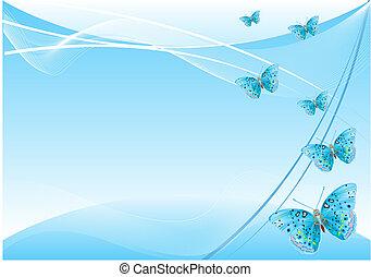 나비, 배경, 떼어내다