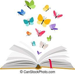 나비, 책, 열려라