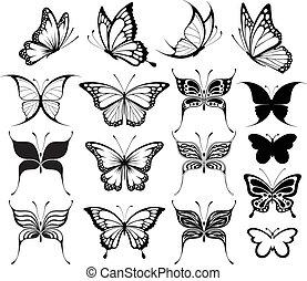 나비, clipart