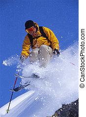 남자, 나이 적은 편의, 스키