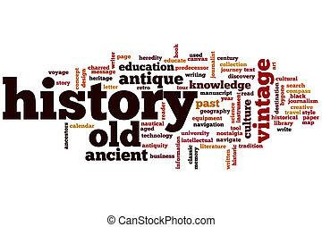 낱말, 구름, 역사