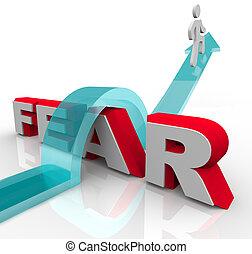낱말, 구타, -, 위의, 은 두려워 한다, 뛰는 것, 정복하는, 공포, 너의