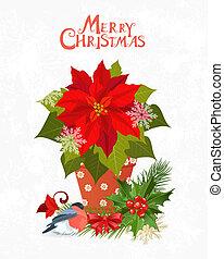 냄비 따위 하나 가득, 포인세티아, 너의, 디자인, 초대, 크리스마스 카드