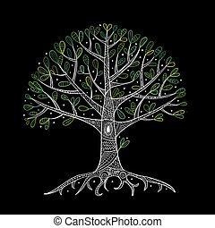 너의, 뿌리, 나무, 디자인
