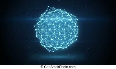 네트워크, 백열하는 것, loopable, 모양, 생기, 미래다