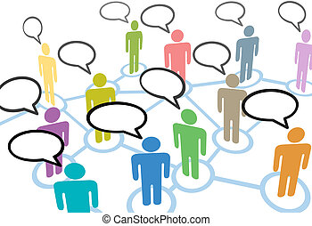 네트워크, 사람, 통신, 접속, 연설, 친목회, 이야기