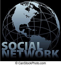 네트워크, 환경, 세계적인 구체, 친목회, 지구