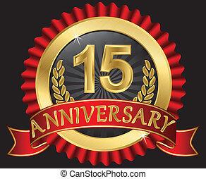 년, 황금, 기념일, 15