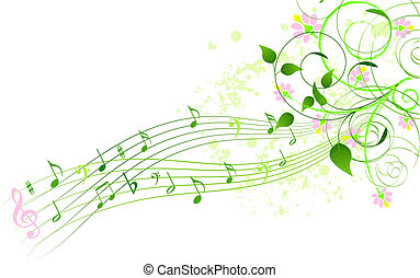 노래, 봄, 배경