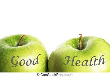 녹색, 건강, 사과
