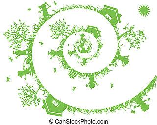 녹색, 나선