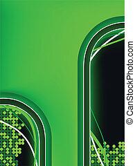녹색, 네온, 배경, copyspace