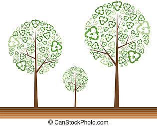 녹색, 생태학, 개념, 나무