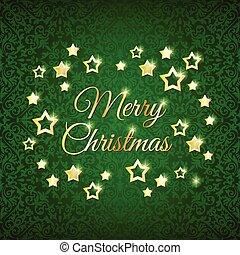 녹색, 은 주연시킨다, 배경, 크리스마스