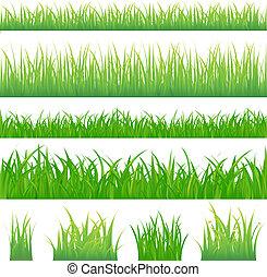 녹색 잔디, 배경, 4, 술
