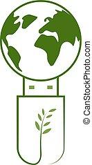 녹색 지구, 기술, usb